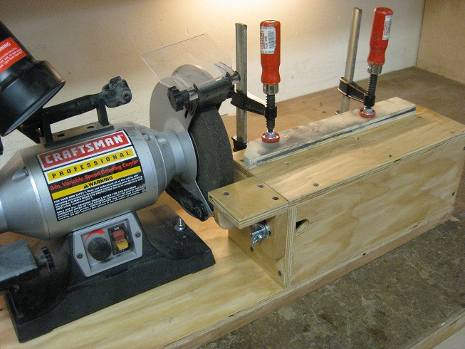 bench grinder table plans
