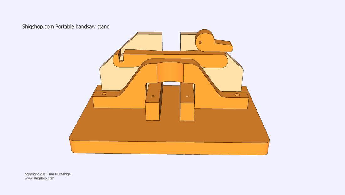 Shigshop.com - portable bandsaw stand plans - Shigshop